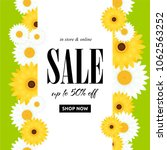 spring sale background with... | Shutterstock .eps vector #1062563252