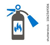 fire extinguisher icon vector.... | Shutterstock .eps vector #1062569306