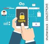 general data protection... | Shutterstock .eps vector #1062579245
