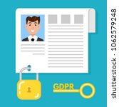 general data protection... | Shutterstock .eps vector #1062579248