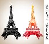 eiffel tower   illustration... | Shutterstock .eps vector #106258442