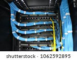 lan cable management | Shutterstock . vector #1062592895