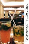 Small photo of cool tropocal drinks and relaxing ambiance..