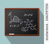 blackboard background and... | Shutterstock .eps vector #1062597056