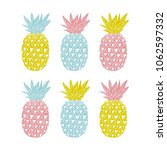 vector set of colorful tropical ... | Shutterstock .eps vector #1062597332