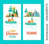 camping. summer outdoor... | Shutterstock .eps vector #1062600572