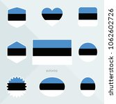 estonia flag. national flag of... | Shutterstock .eps vector #1062602726