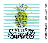 hello summer hand written... | Shutterstock .eps vector #1062604736