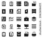 flat vector icon set   case... | Shutterstock .eps vector #1062606635