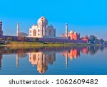 taj mahal at sunset   agra ... | Shutterstock . vector #1062609482