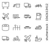 flat vector icon set   delivery ...   Shutterstock .eps vector #1062613412