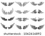 Set Of Wings Illustrations...