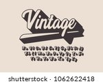 vector of stylized vintage font ... | Shutterstock .eps vector #1062622418
