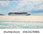 side view of luxury cruise ship. | Shutterstock . vector #1062625886