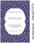 stylish wedding card. vintage...   Shutterstock .eps vector #1062627272