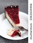 cheesecake with chocolate crumb ... | Shutterstock . vector #1062634406