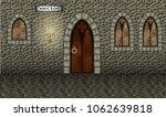 vector. stone hall  corridor ... | Shutterstock .eps vector #1062639818