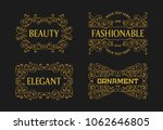 vintage swirl retro ornament... | Shutterstock .eps vector #1062646805