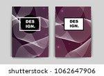 dark purple vector brochure for ...