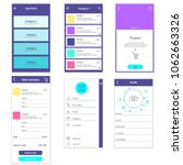 application mobile template. e...