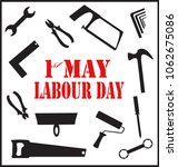 1st of may. labor day.... | Shutterstock .eps vector #1062675086