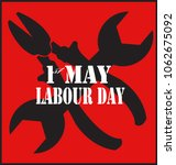 1st of may. symbol of the day... | Shutterstock .eps vector #1062675092