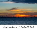 beautiful sunset in the sky for ... | Shutterstock . vector #1062682745