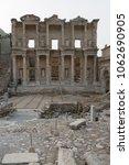 library of celsus in ephesus ... | Shutterstock . vector #1062690905