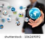 hand holding business diagram | Shutterstock . vector #106269092
