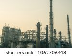 old abandoned refinery yard... | Shutterstock . vector #1062706448