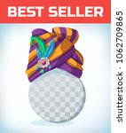 east wizard hat. turban...   Shutterstock .eps vector #1062709865