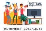 sport fans group vector....   Shutterstock .eps vector #1062718766