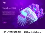 isometric cloud computing... | Shutterstock .eps vector #1062726632