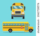 school  bus view side and front.... | Shutterstock .eps vector #1062728576
