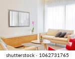 living room with leather...   Shutterstock . vector #1062731765