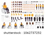 young disabled woman in... | Shutterstock .eps vector #1062737252