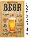 how to order a beer around the... | Shutterstock .eps vector #1062738092
