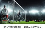soccer game moment  on... | Shutterstock . vector #1062739412