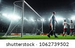 soccer game moment  on... | Shutterstock . vector #1062739502