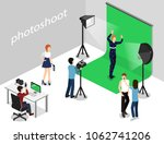 movie set  photoshoot with... | Shutterstock . vector #1062741206