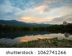 beautiful sunset sky reflex in... | Shutterstock . vector #1062741266