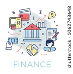 creative finance and banking... | Shutterstock .eps vector #1062743648