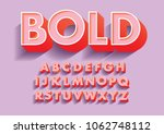 bold 3d/ 3 dimension typography design vector | Shutterstock vector #1062748112