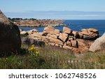 the pink granite coast  cote de ... | Shutterstock . vector #1062748526