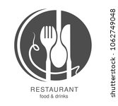 vector knife  fork  spoon with...   Shutterstock .eps vector #1062749048