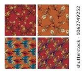 feathers seamless set   Shutterstock . vector #1062749252