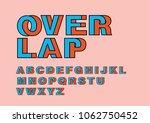 overlap intertwine typography... | Shutterstock .eps vector #1062750452