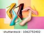 Bright colored women's shoes on ...