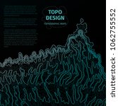 topographic map background with ... | Shutterstock .eps vector #1062755552