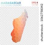 madagascar polygonal  mosaic... | Shutterstock .eps vector #1062758342